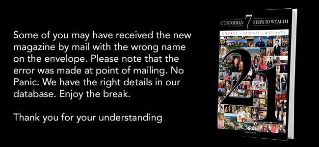 magazine mailout error banner